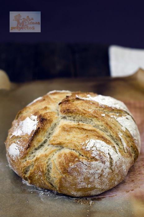Un pan muy rico que no necesita amasado aunque si un poco de tiempo para la fermentación.