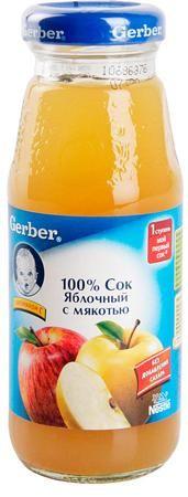 Сок Gerber (Гербер) яблочный с мякотью, 175 мл  — 73р. --------- Сок с мякотью Gerber Яблоко. Яблоки являются чуть ли не самыми полезными фруктами. Их польза заключается в гармоничном сочетании различных компонентов, включая витамины, минералы, фруктовые кислоты, сахара и клетчатку. Яблочный сок содержит витамин С, соли калия, магния, фосфор, железо, яблочную, лимонную и другие органические кислоты. Яблочный сок рекомендуется вводить в детское питание первым.  Состав: яблочное пюре, яблочный…