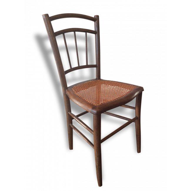 Demi paire de chaises bistrot vendu par Arragon - montigny (95 - Val-d'Oise). Hauteur : 83, Largeur : 40, Profondeur : 37, État : Bon état, Materiau : Bois, Style : Vintage,