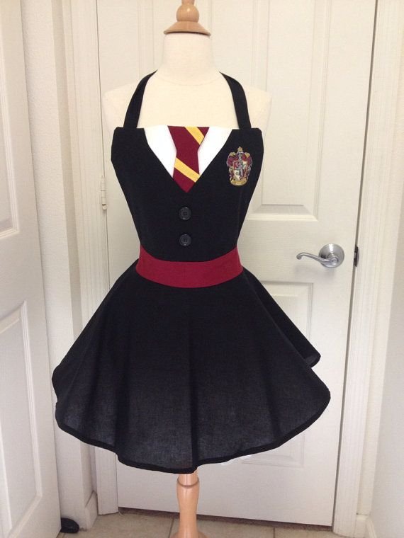 Harry Potter adult full apron por AJsCafe en Etsy