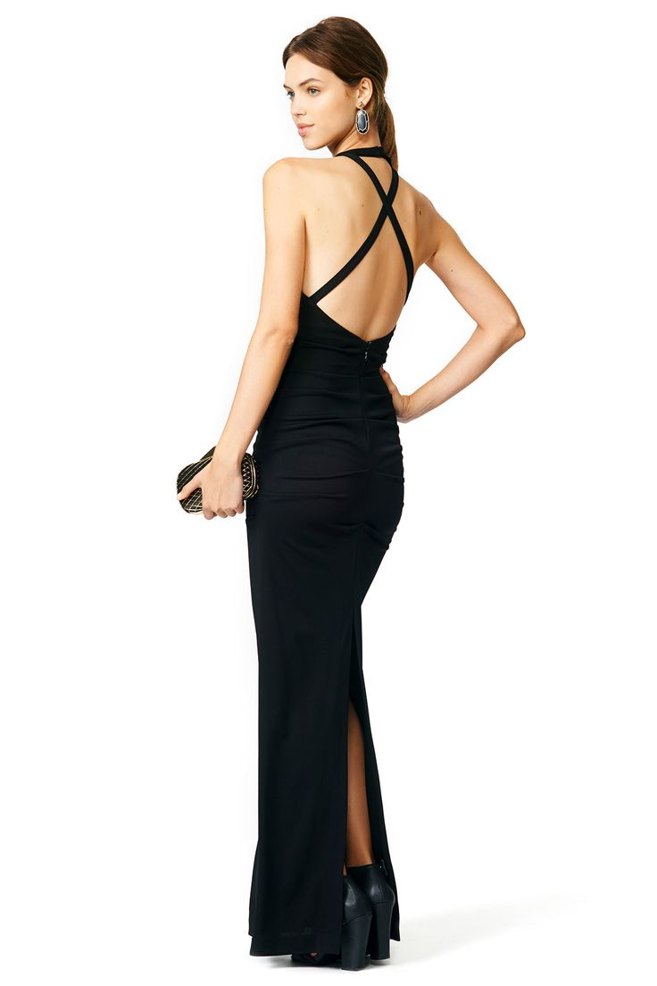 Black Blades Gown by Nicole Miller renttherunway  New Arrivals ...