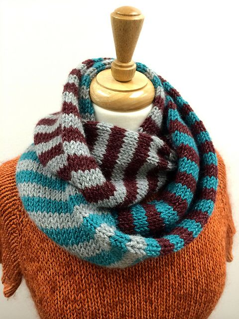 Ravelry: Tri-Color and You Will Succeed Cowl pattern by Chris Rieffer | See more about Cowl Patterns, Cowls and Stripe Pattern.
