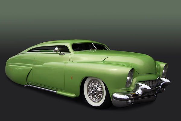 1949 Chopped and Slammed Mercury Lead Sled green - LOVE THIS 1...I want  1 just like this 1 but a darker shade of green. . Yup