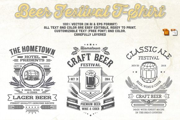 Beer Festival T-Shirt by Rooms Design Shop on Creative Market
