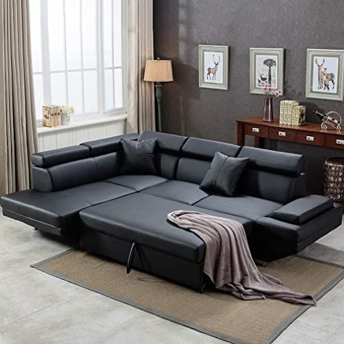 The Sofa Sectional Sofa Living Room Futon Sofa Bed Couches Sofas Sleeper Sofa Modern Sofa Corner Sofa Faux Leather Queen 2 Piece Modern Contemporary Online Shop In 2020 Sofa Bed Living