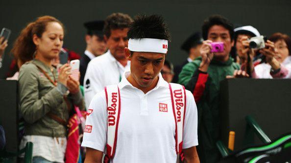 Kei Nishikori Photos - Day Six: The Championships - Wimbledon 2014 - Zimbio