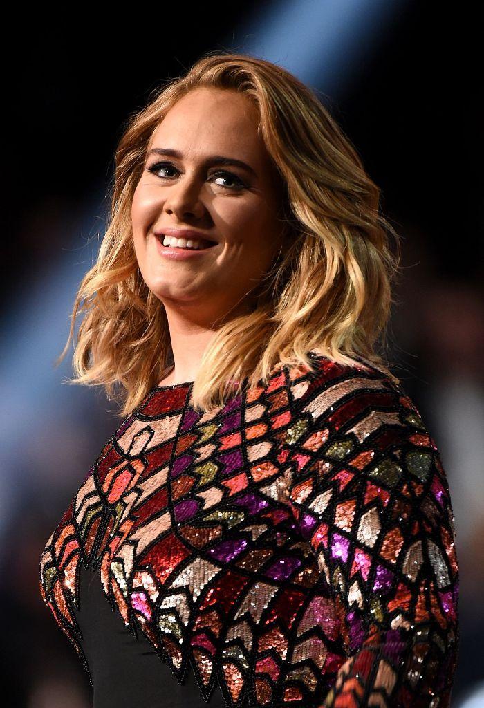 Adele at 2017 Grammy Awards.