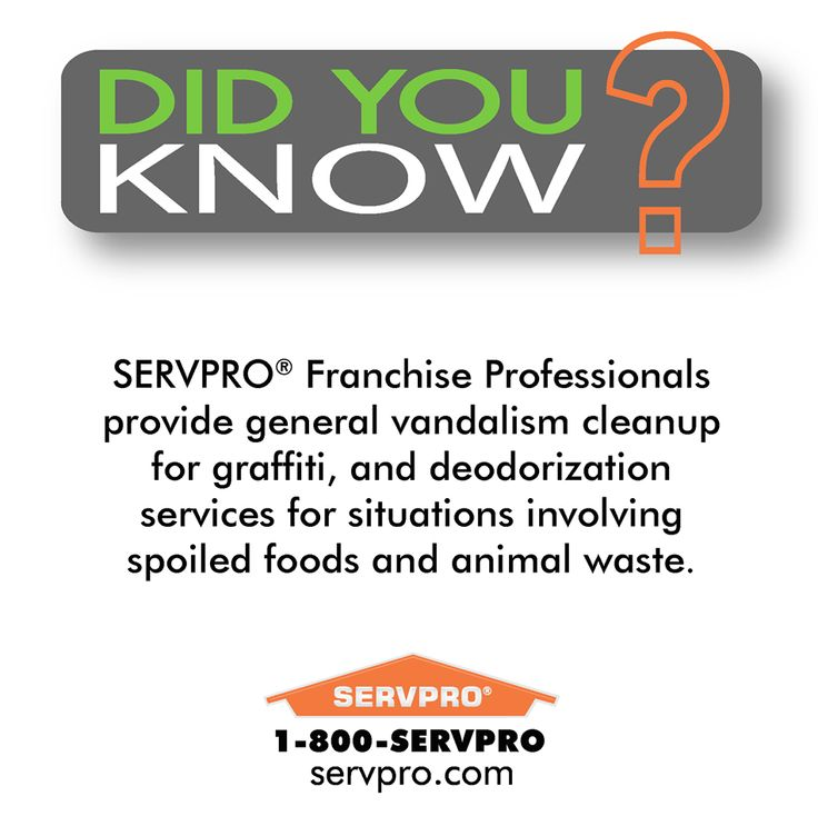 SERVPRO of Keene Did You Know? Vandalism and Graffiti