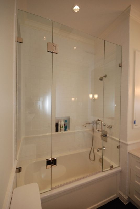 Shower tub enclosures heard right a beautiful frameless for Bathroom enclosure designs