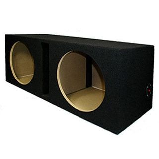 Dual Car Subwoofer Box Ported Automotive Enclosure for Two 12-inch Woofers
