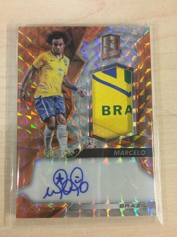 Marcelo Brazil 2016 Panini Spectra BRAZIL Auto Autograph ORANGE 8/10 SICK PATCH!
