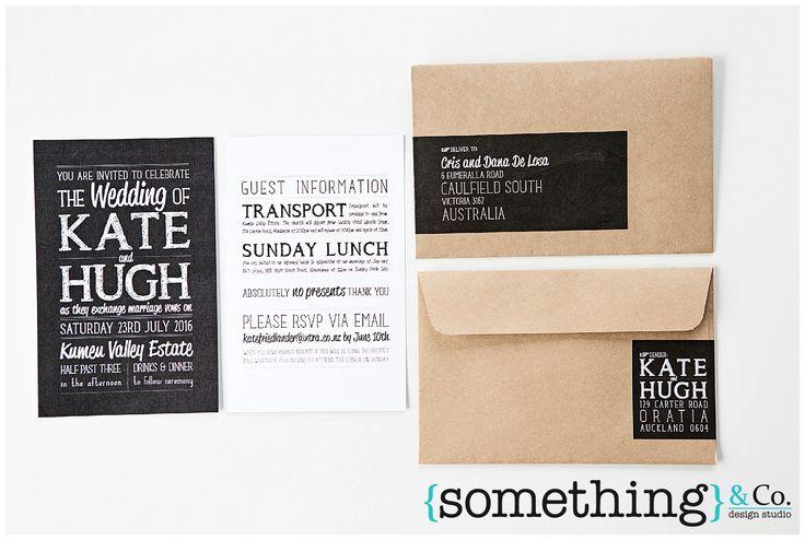 {something} chalkboard   Wedding Stationery Suites   Wedding Invitations