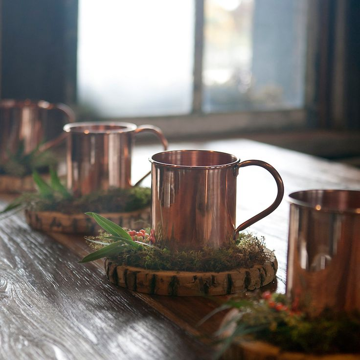 Oversized Copper Mug in House+Home COLLECTIONS Holiday Tabletop at Terrain #PinToWin #Anthropologie