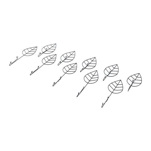 IKEA-LAMP EMBELLISMENT: EDSVALLA Decoration for lamp shade, set 10, leaf - leaf $6.99,add to sm lamp shade for added drama and texture. Doesn't always have to be crystals.