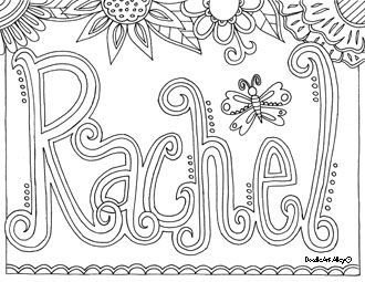printable coloring name pages - photo#11