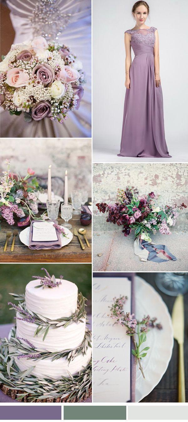 purple wedding ideas, lavender, sage