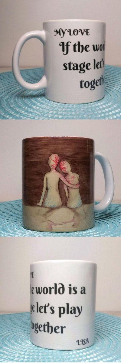 Custom Coffee Mug,Custom annivsary gift, Wedding gifts for couple, Romantic gifts for him, porcelain coffee mug, anniversary gift for husband,couple mug,Coffee Mug http://etsy.me/2DPaij9 #plantsandedibles #anniversary  #romanticart #couplemug #romanticcoupleart