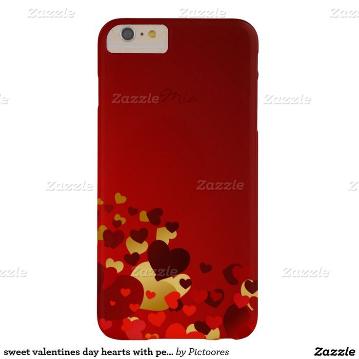sweet valentines day hearts with personalised name barely there iPhone 6 plus case