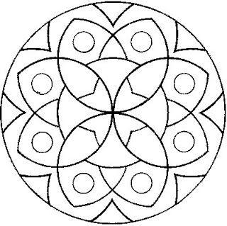 Mandalas Para Pintar: Mandalas geométricos