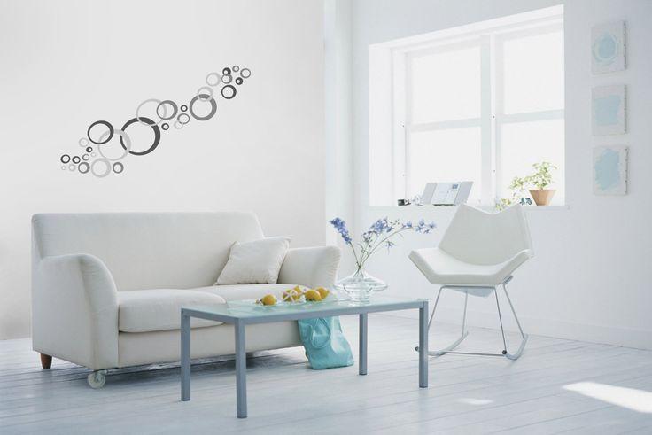 Nálepky na stenu - sivé kruhy   DIMEX