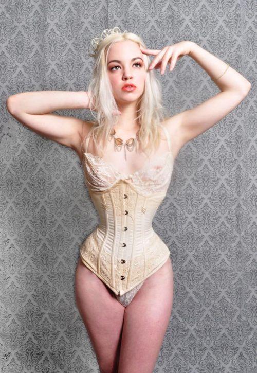 Very tight corset sex