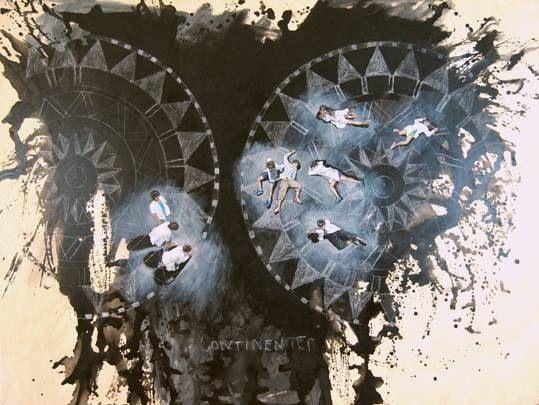 """Continentes"" de Claudio Gallina, pintor argentino"