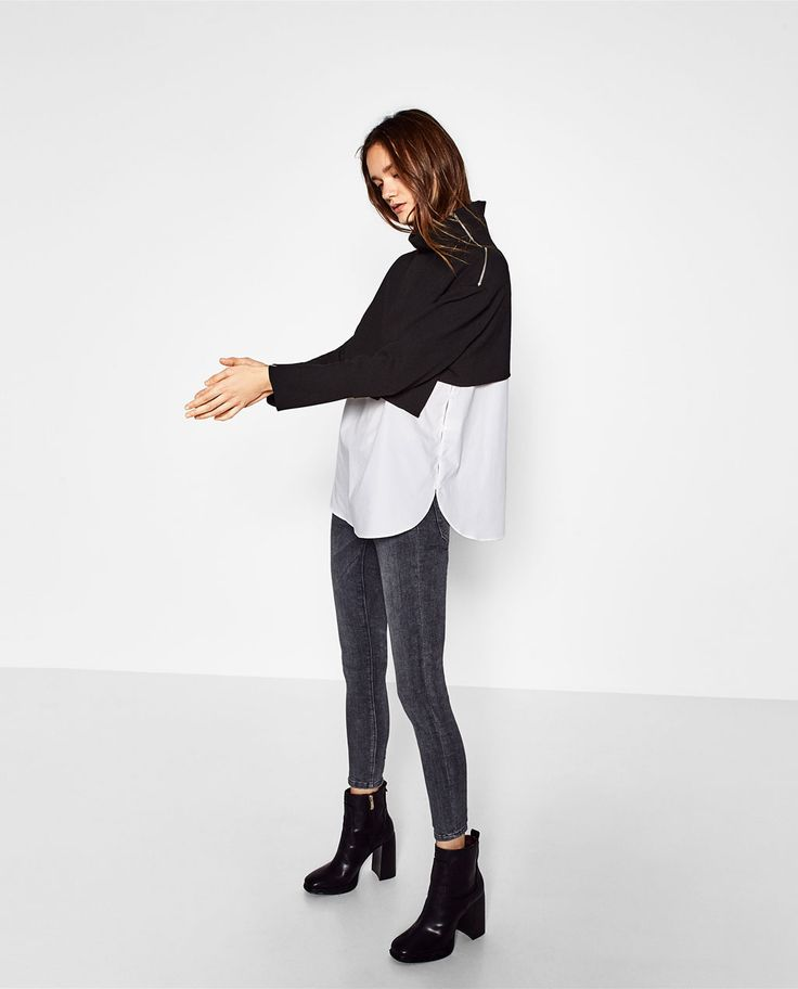 CONTRAST FULL TOP-Blouses-TOPS-WOMAN | ZARA United States