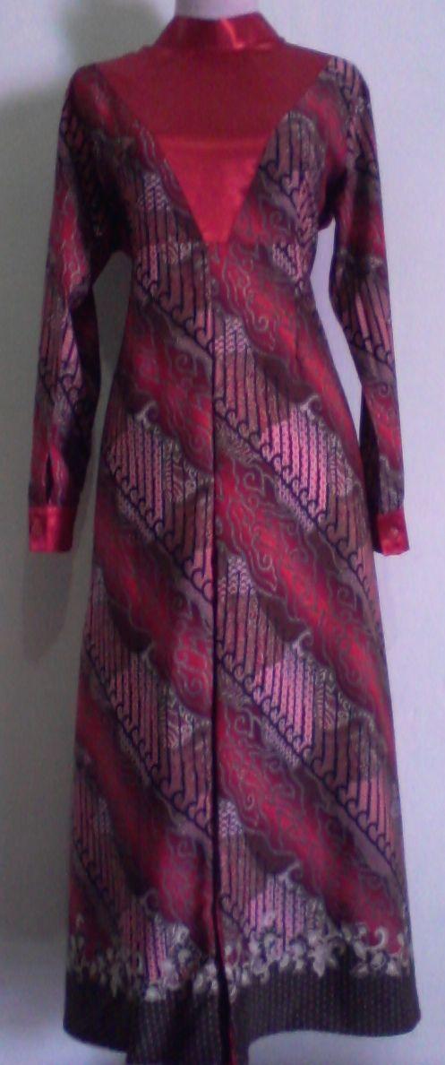 Red Batik Moslem Dress by JOEL