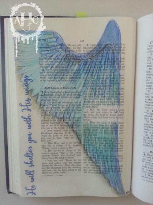 Adore Him Creations:  Bible Journaling ruth 2:12
