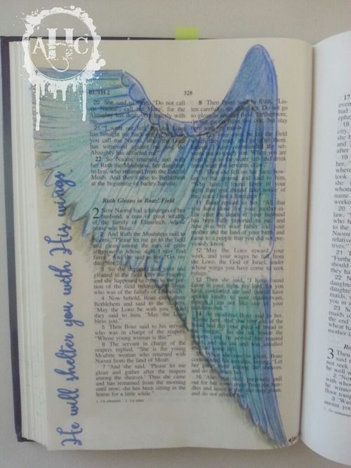 Adore Him Creations:  Bible Journaling ruth 2:12