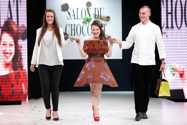 chocolate fashion show - ÉCLAT GAËLLE VERRIEST (TALONS AIGUILLE) & JACQUES BELLANGER Modèle porté par Guila Clara Kessous