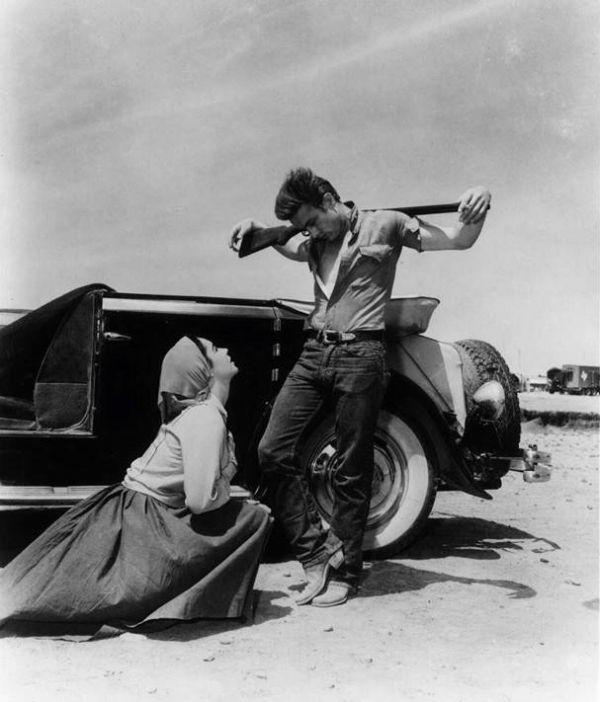 Elisabeth Taylor & James Dean in 'Giganten'