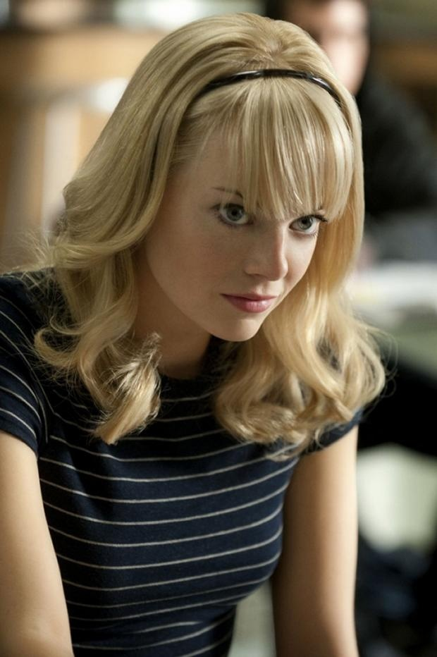 Emma Stone as Gwen Stacy.  I know this one wouldnt really work as a costume, I just thought it was exciting because it looks your hair style