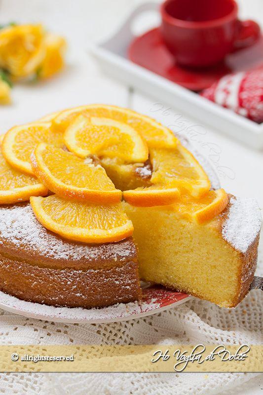 Torta all'arancia e yogurt