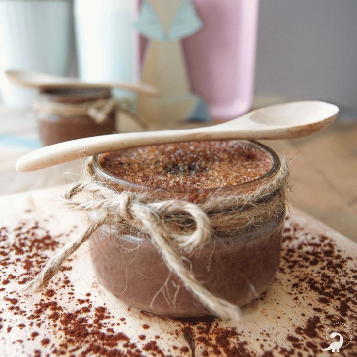 Crème brulée au chocolat – vegan – sans four – Qui a invité l'herbivore ?