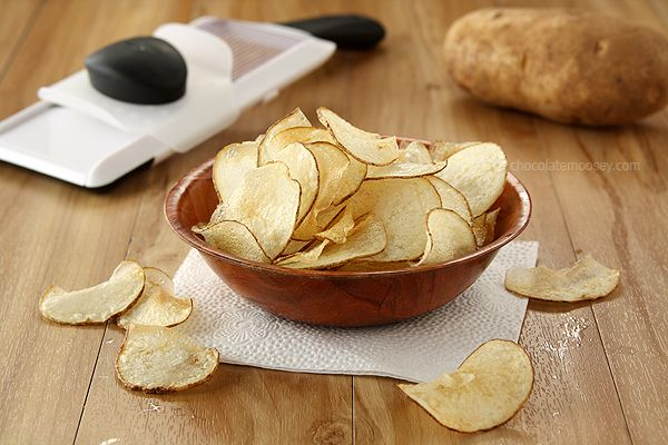 Homemade Salt and Vinegar Potato Chips + OXO Mandoline Review and Giveaway