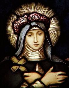 Saint Rose of Lima pray for us and florists, gardeners, embroiderers and against vanity.  Feast day August 23.