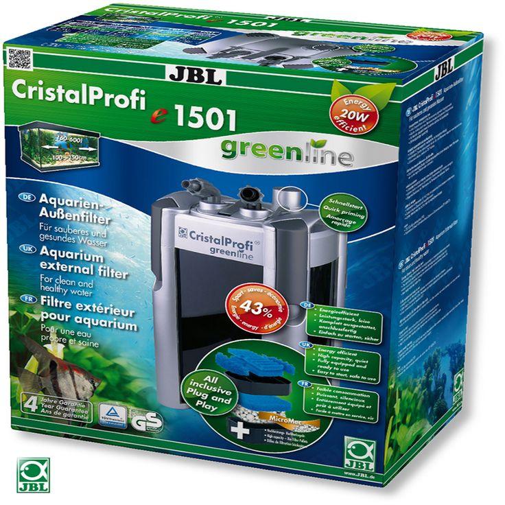 JBL CristalProfi e1501 Greenline 4-Stage External Canister Filter for 120-600 Liters Aquarium Fish Tank 1400LPH #Affiliate