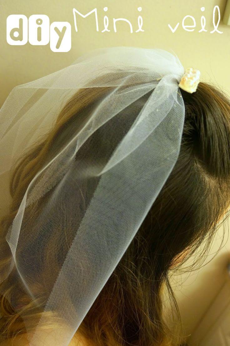 DIY mini veil - cute kitschy craft idea for a bachelorette party or bridal shower