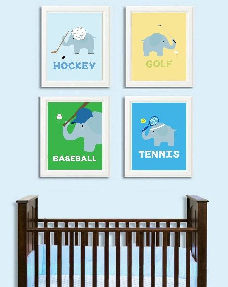 Baby Boy Elephant Nursery Decor