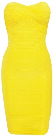 CelebBoutique Neon Yellow Dress