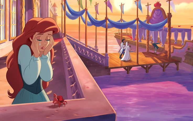 Disguised as Vanessa and using Ariel's voice, the sea