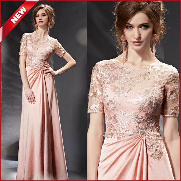 Wholesale Coniefox 82036 Latest Short Sleeve Floor Length Red Carpet Formal Dresses 2015