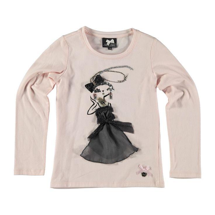 Le Chic Shirt Zacht Roze bij Minimoda. #Meisjeskleding #Meisjes #Kinderkleding