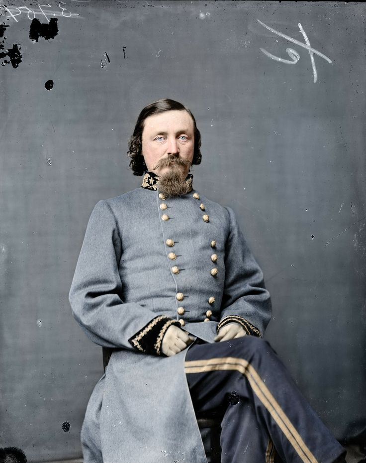 General George E. Pickett, namesake for the ill-fated 'Pickett's Charge' during the Battle of Gettysburg