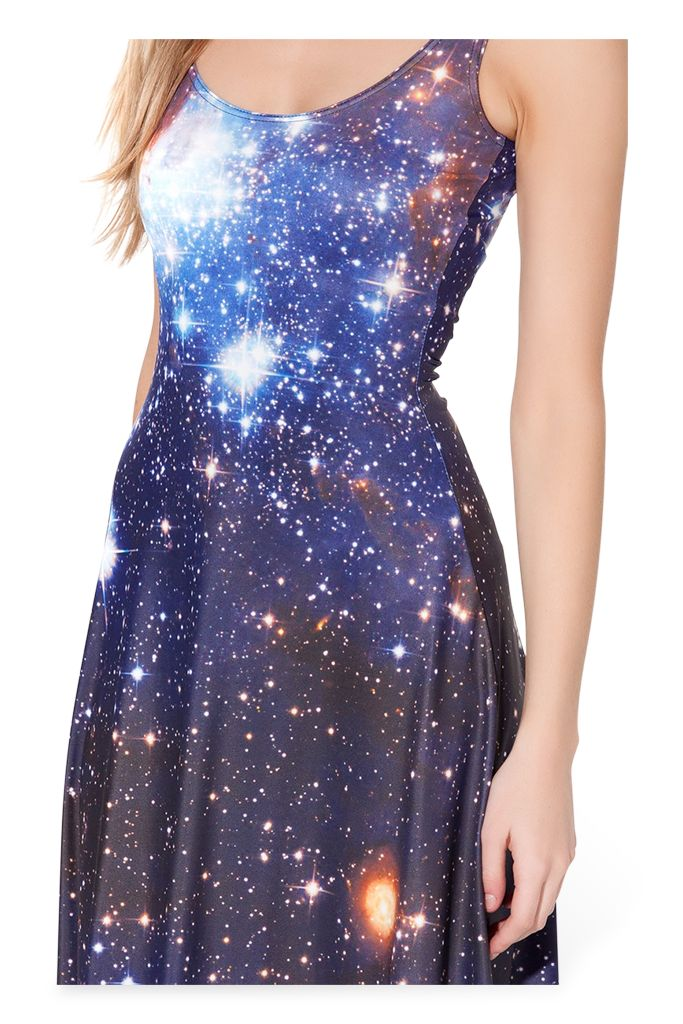 Black milk galaxy dress maxi blue