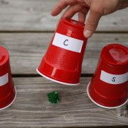 ABC or Sight Word Cup Hunt