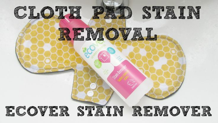 Removing Cloth Pad Stains Video | Ecover Stain Remover