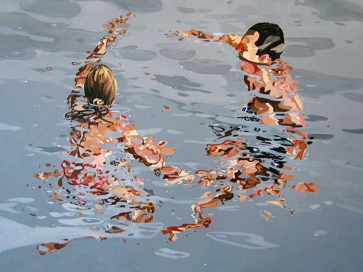 """""""Caer a través de la luz"""", 2013 Sus pinturas suelen incluirse dentro del fotorrealismo pero pienso que van más allá de la pura re..."""