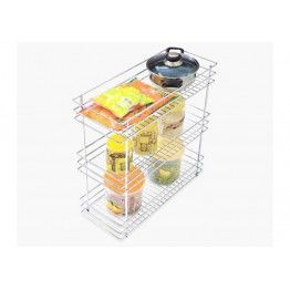 Three Shelf Pullout Kitchen Basket Made Up Of Stainless Steel 202 Grade This Cute